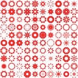 абстрактная мозаика предпосылки элементы конструкции предпосылки 4 снежинки белой Стоковое фото RF