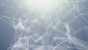 Абстрактная моргать предпосылка петли науки технологии сети плекса треугольников иллюстрация вектора