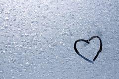 абстрактная морозная картина сердца Стоковое Изображение RF