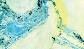 Абстрактная мраморная красочная предпосылка искусства текстуры Стоковые Изображения