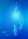 Абстрактная музыка замечает предпосылку вектора Стоковые Изображения RF
