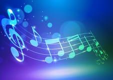 Абстрактная музыка замечает предпосылку вектора Стоковая Фотография RF