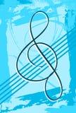 Абстрактная музыкальная предпосылка красочная Стоковая Фотография