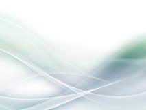 Абстрактная мягкая зеленая и голубая волна Стоковое Изображение RF