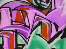 абстрактная надпись на стенах Стоковая Фотография RF