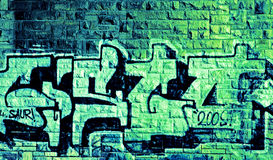 абстрактная надпись на стенах Стоковые Фотографии RF