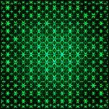Абстрактная накаляя зеленая фракталь 3D Стоковая Фотография