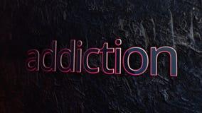Абстрактная наркомания текста сердитой Наркомания надписи металла отражает свет с самыми интересными на предпосылке текстуры иллюстрация штока