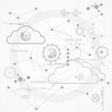 Абстрактная научная будущая предпосылка технологии, иллюстрация вектора Стоковое Фото