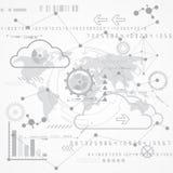 Абстрактная научная будущая предпосылка технологии, иллюстрация вектора Стоковые Фотографии RF