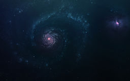 Абстрактная научная предпосылка - планеты в космосе, межзвёздном облаке и звездах Элементы этого изображения поставленные NASA NA Стоковые Изображения RF