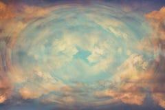Абстрактная небесная предпосылка, свет от рая Концепция откровения Стоковое Фото