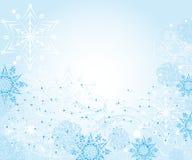Абстрактная нежная рамка зимы с снежинками иллюстрация вектора