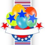 абстрактная независимость США предпосылки Стоковая Фотография RF