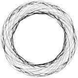 Абстрактная нервная круглая форма, элемент изолированный на белизне случайно Стоковое Фото