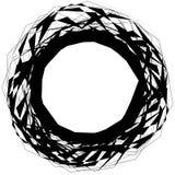 Абстрактная нервная круглая форма, элемент изолированный на белизне случайно Стоковые Фотографии RF