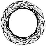 Абстрактная нервная круглая форма, элемент изолированный на белизне случайно Стоковые Фото