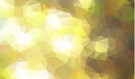 Абстрактная низкая поли предпосылка треугольников в зеленых цветах Предпосылка мозаики абстрактного белого света полигональная, и иллюстрация вектора