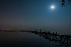 абстрактная ноча лунного света изображения фрактали Стоковые Фото