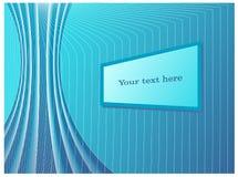 Абстрактная Оно-предпосылка с стилизованными кабелями, проводами, и похожим на монитор текстовым полем Стоковые Фото