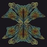 Абстрактная орнаментальная картина Стоковые Фотографии RF