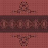 Абстрактная орнаментальная темная рубиновая предпосылка Стоковое Фото