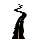 Абстрактная дорога асфальта изолированная на белой предпосылке бесплатная иллюстрация