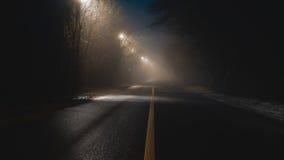 Абстрактная дорога fogy стоковая фотография rf