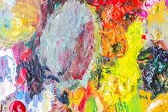 Абстрактная палитра акрила красочного, цвет смешивания, backgroun Стоковое Изображение