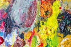 Абстрактная палитра акрила красочного, цвет смешивания, backgroun Стоковое Фото