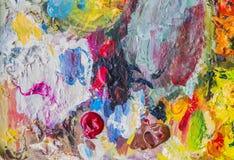Абстрактная палитра акрила красочного, цвет смешивания, backgroun Стоковое фото RF