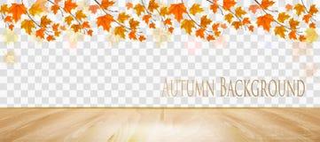 Абстрактная панорама осени с красочными листьями иллюстрация штока