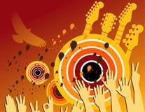 абстрактная партия нот grunge Стоковые Фото