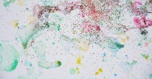 Абстрактная пастельная акварель формирует в желтых, фиолетовых и голубых оттенках Стоковое фото RF