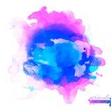 Абстрактная палитра акварели голубых цветов, иллюстрация вектора
