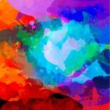 Абстрактная палитра акварели Стоковое Изображение RF
