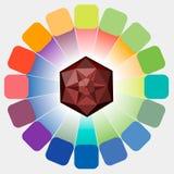 абстрактная палитра конструкции цвета предпосылки Стоковая Фотография RF