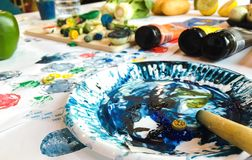 абстрактная палитра конструкции цвета предпосылки Стоковые Изображения