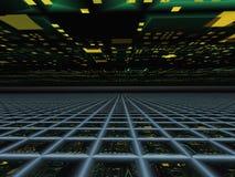 абстрактная перспектива горизонта решетки Стоковая Фотография RF