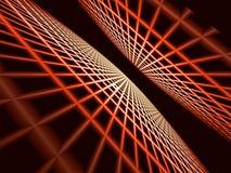 Абстрактная перспектива с решеткой - цифров произведенным изображением иллюстрация штока