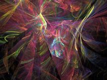 Абстрактная пестротканая картина фрактали Стоковые Изображения RF