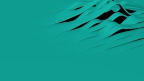 Абстрактная петля диапазона волны Teal акции видеоматериалы