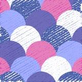 Абстрактная плоская предпосылка, красочная картина кругов, творческий фон, иллюстрация вектора Стоковое Изображение RF