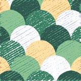 Абстрактная плоская предпосылка, красочная картина кругов, творческий фон, иллюстрация вектора Стоковые Фотографии RF