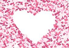 Абстрактная повторяя предпосылка формы сердца красный цвет поднял бесплатная иллюстрация