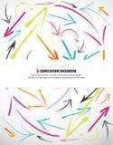 абстрактная покрашенная предпосылка стрелок Стоковая Фотография RF