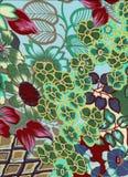 абстрактная покрашенная предпосылка флористической Стоковые Фотографии RF