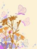абстрактная покрашенная предпосылка флористической Иллюстрация штока