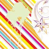 абстрактная покрашенная предпосылка флористической Стоковые Фото