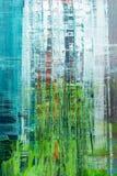 абстрактная покрашенная холстина Краски масла на палитре иллюстрация вектора